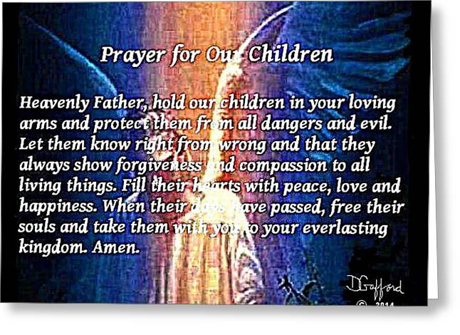 Child Jesus Greeting Cards - Prayer for Our Children Greeting Card by Dave Gafford