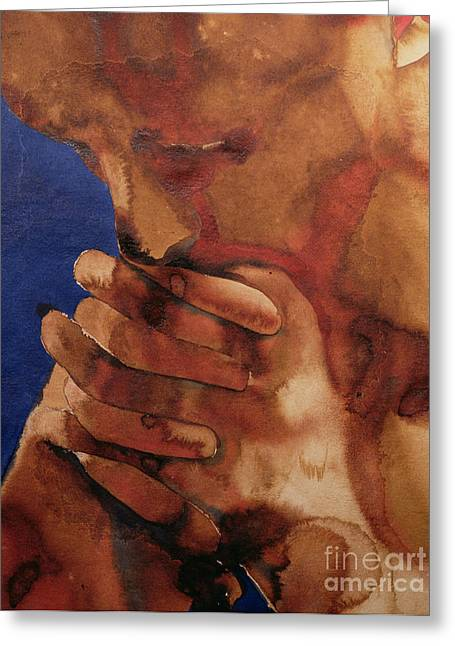 Clasped Greeting Cards - Prayer Greeting Card by Graham Dean