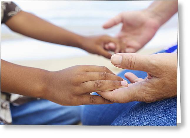 Holden Beach Greeting Cards - Prayer Hands Greeting Card by Kicka Witte