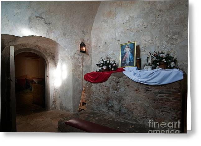 In Focus Greeting Cards - Prayer Room Greeting Card by John Kain