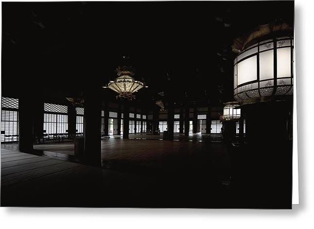 Prayer Room Of Kyoto Greeting Card by Daniel Hagerman