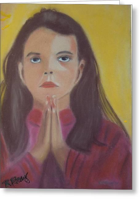Robert Bray Greeting Cards - Prayer Time Greeting Card by Robert Bray
