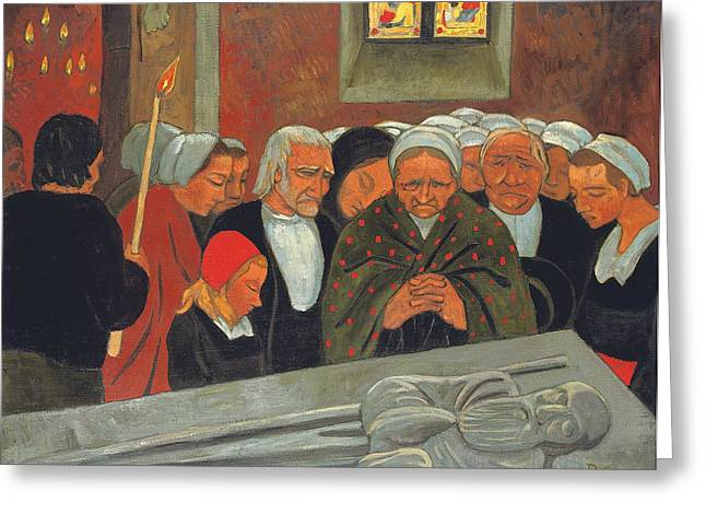 Coffin Greeting Cards - Prayer to Saint Herbot Greeting Card by Paul Serusier