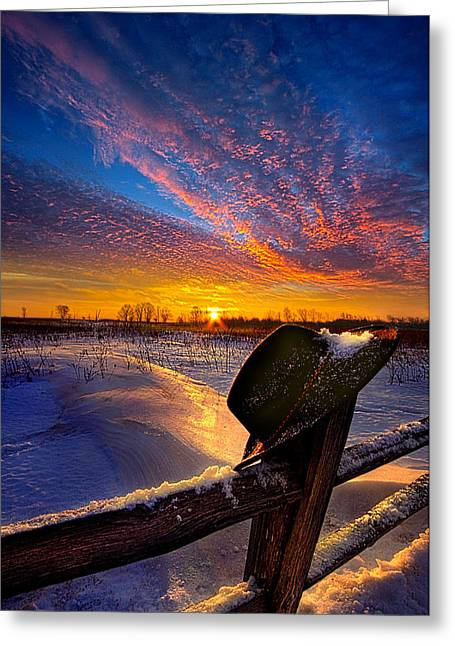 Prayers And Promises Greeting Card by Phil Koch