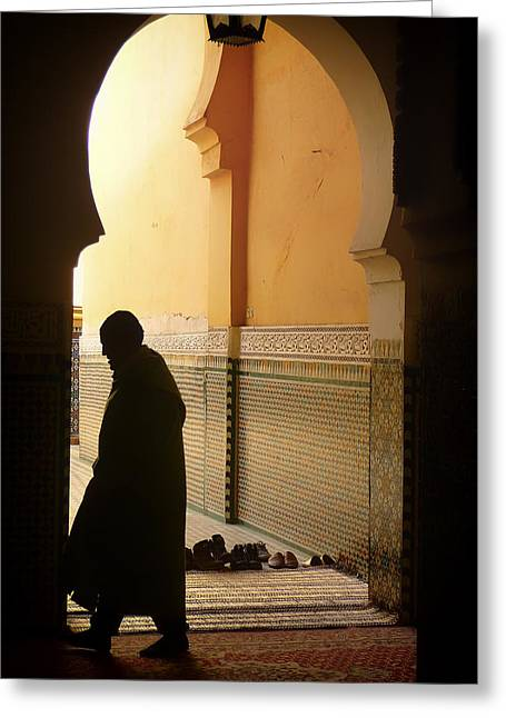 Men Shoes Greeting Cards - Prayers of Morocco Greeting Card by Mountain Dreams