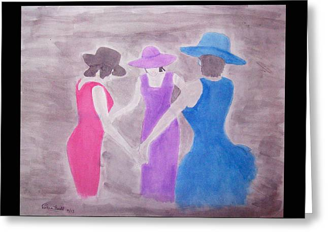 African-american Drawings Greeting Cards - Praying for Peace in the World Greeting Card by De Beall