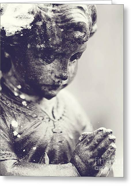 Praying Hands Greeting Cards - Praying for You Greeting Card by Scott Pellegrin