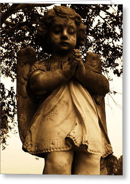 Floral Photographs Sculptures Greeting Cards - Praying Girl Greeting Card by Nathan Little