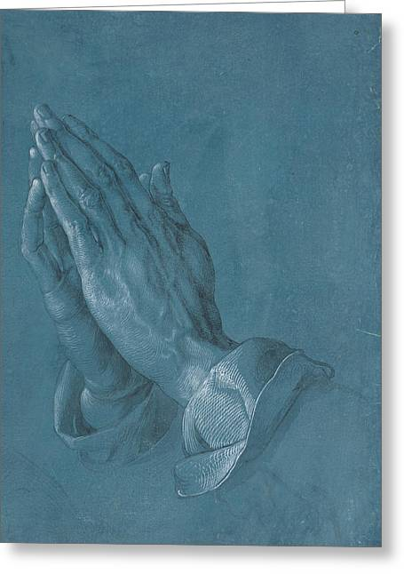 Praying Hands Drawings Greeting Cards - Praying Hands 1508 Greeting Card by Philip Ralley