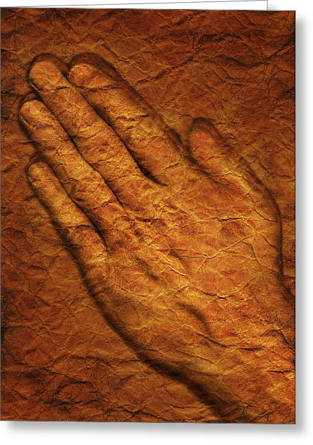 Praying Hands Photographs Greeting Cards - Praying Hands Greeting Card by Don Hammond
