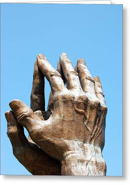 Praying Hands Greeting Cards - Praying Hands  Greeting Card by Heather Petrey