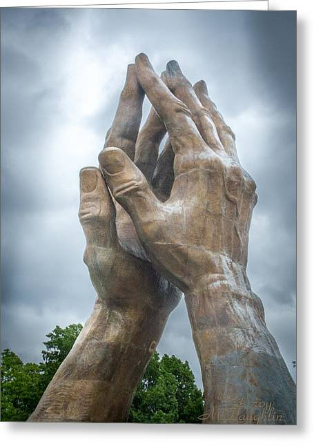 Praying Hands Greeting Cards - Praying Hands Greeting Card by Leroy McLaughlin