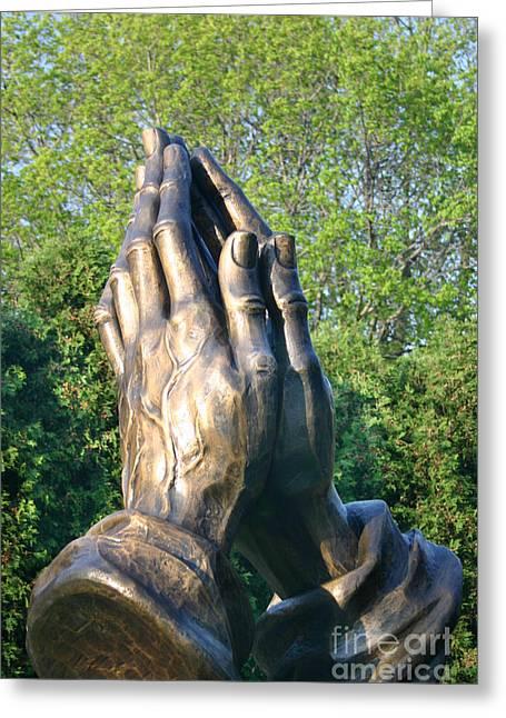 Praying Hands Greeting Cards - Praying Hands Greeting Card by Patty Colabuono