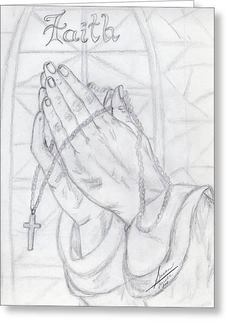 Praying Hands Greeting Cards - Praying Hands Greeting Card by Susan Turner