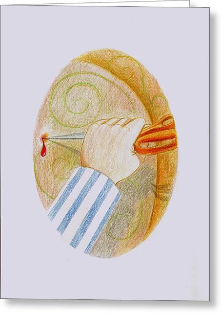 Pajamas Greeting Cards - Praying2 Greeting Card by Ragnheidur