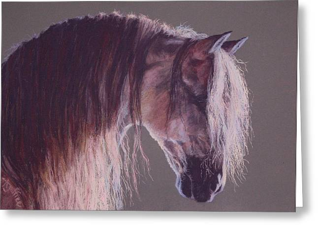 Stallion Pastels Greeting Cards - Pre Greeting Card by Ann Jeffree