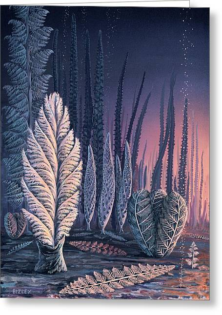 Pre-cambrian Life Forms Greeting Card by Richard Bizley