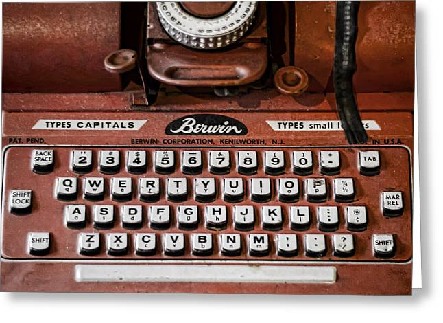 Typewriter Greeting Cards - Pre Computer Greeting Card by Heather Applegate