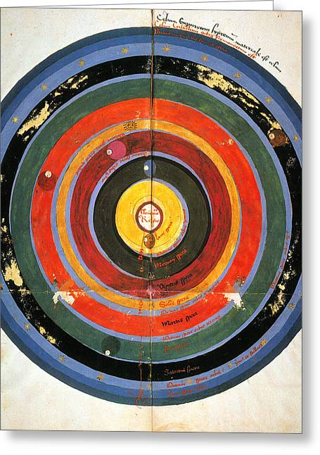 Renaissance Center Greeting Cards - Pre-copernican Universe Greeting Card by Granger