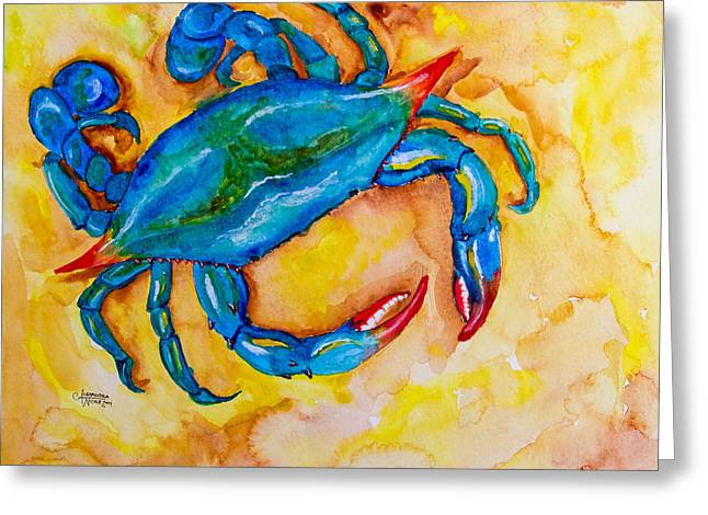 Low Country Watercolor Greeting Cards - Pre Crab Boil Greeting Card by Alexandra Nicole Newton