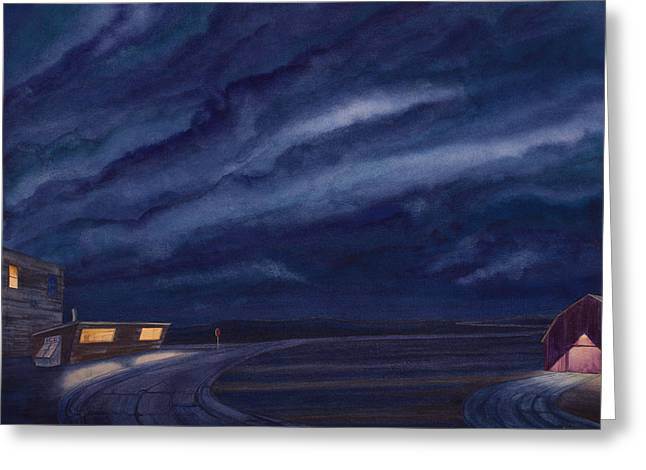 Great Plains Art Greeting Cards - Pre-Dawn On The Hi-Line IV Greeting Card by Scott Kirby