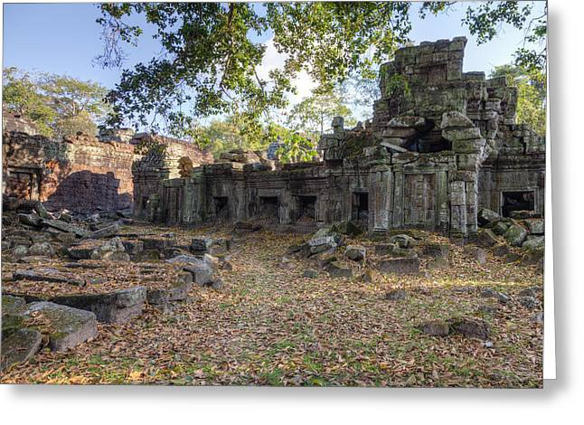 Ancient Ruins Greeting Cards - Preah Khan Temple Greeting Card by Alexey Stiop