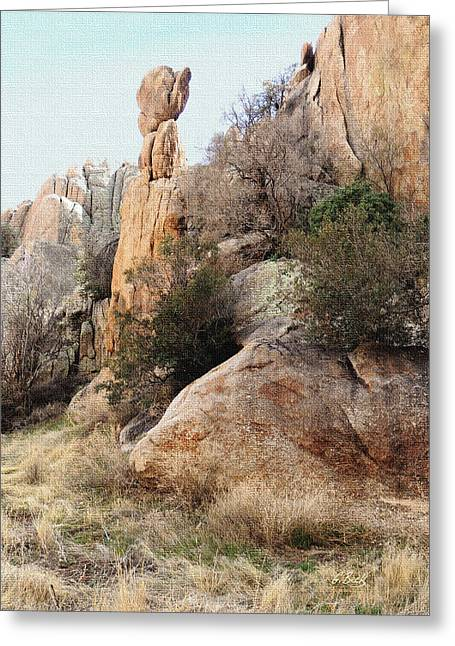 Prescott Greeting Cards - Precarious Greeting Card by Gordon Beck