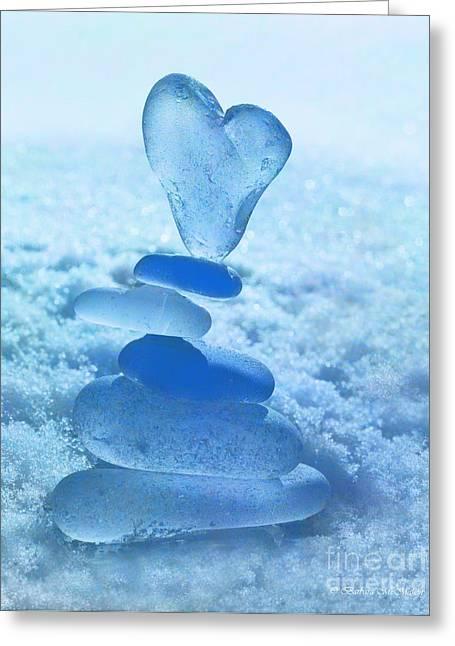 Topple Greeting Cards - Precarious Heart Greeting Card by Barbara McMahon