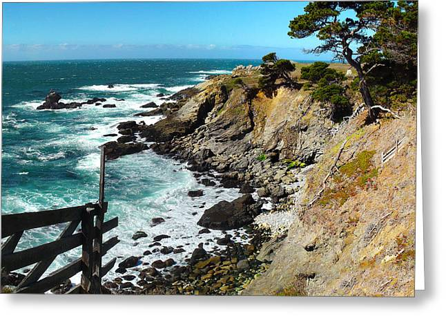 Coast Highway One Greeting Cards - Precariously beautiful Greeting Card by Stan Angel