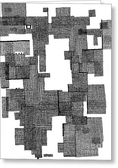 Division Drawings Greeting Cards - Precinct 1 Greeting Card by Andy  Mercer