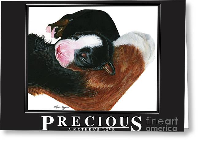 Berner Greeting Cards - Precious - A Mothers Love Greeting Card by Liane Weyers