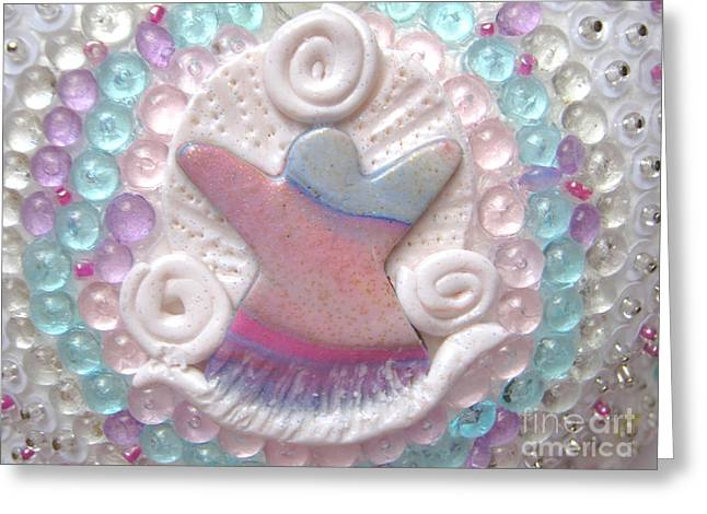 Heart Reliefs Greeting Cards - Precious graceful sweetheart detail Greeting Card by Heidi Sieber