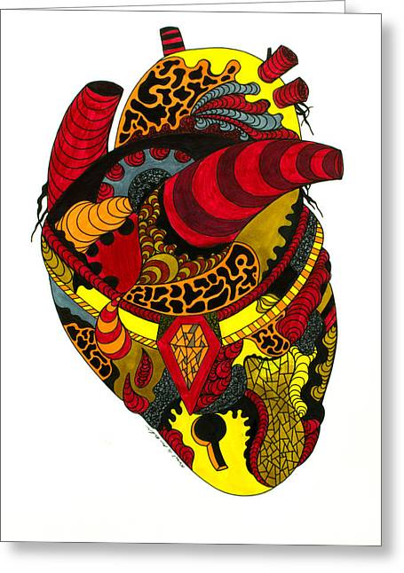 Kenal Louis Greeting Cards - Precious Heart Greeting Card by Kenal Louis