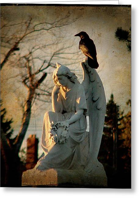 Crow Image Greeting Cards - Precious Light Greeting Card by Gothicolors Donna Snyder