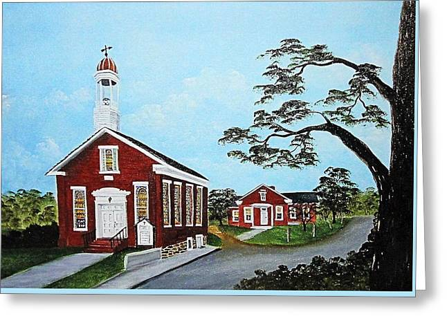 Old School Houses Greeting Cards - Precious Memories Greeting Card by Darlene Prowell