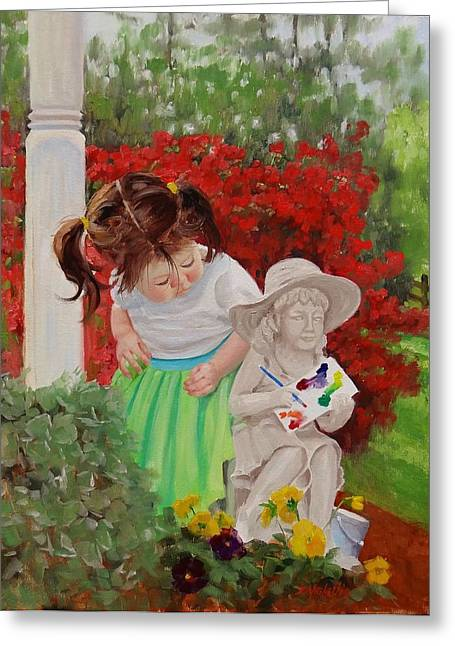 Front Yard Greeting Cards - Precious Memories Two Greeting Card by Laura Lee Zanghetti