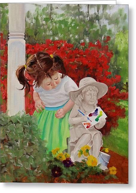 Precious Memories Two Greeting Card by Laura Lee Zanghetti