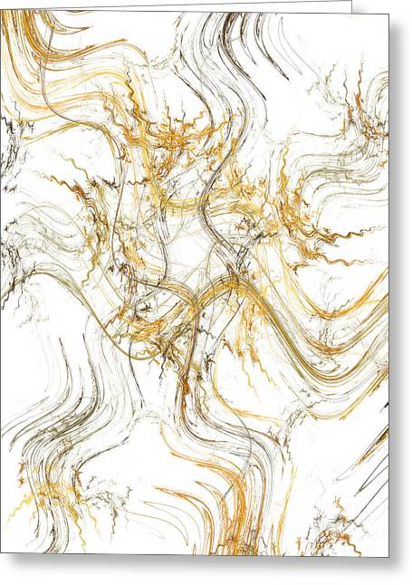Precious Metals Greeting Cards - Precious Metal 1 White Decorator Collection 1 Greeting Card by Andee Design