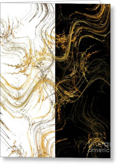Precious Metals Greeting Cards - Precious Metal 3 Black And White Decorator Collection 1 Greeting Card by Andee Design