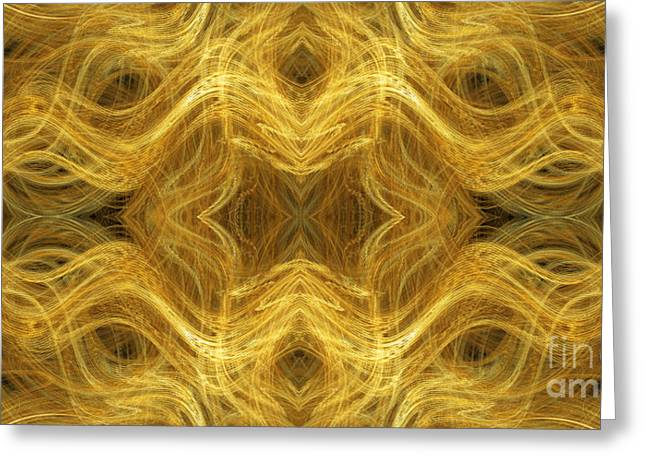Precious Metals Greeting Cards - Precious Metal 3 Ocean Waves Panorama Greeting Card by Andee Design