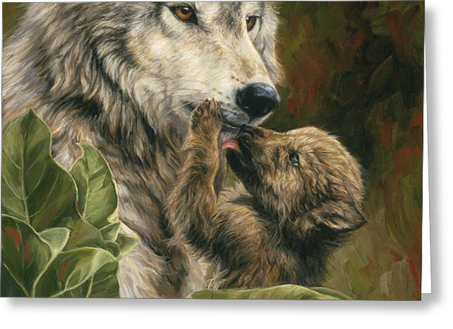 Precious Moment Greeting Card by Lucie Bilodeau