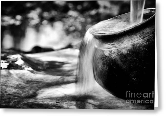 White Clay Greeting Cards - Precious Water Greeting Card by Tim Gainey