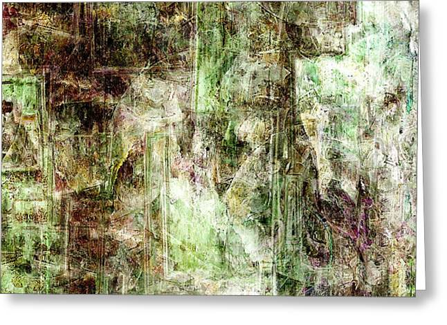 Abstract Art On Canvas Greeting Cards - Precipice - Abstract Art Greeting Card by Jaison Cianelli