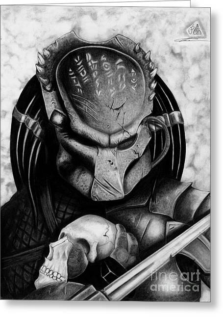 Dread Locks Greeting Cards - Predator Greeting Card by Christopher Spring