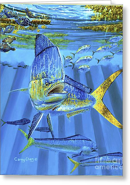 Gamefish Greeting Cards - Predator Off0067 Greeting Card by Carey Chen
