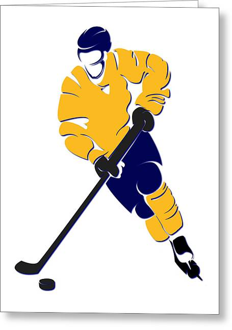 Nashville Greeting Cards - Predators Shadow Player Greeting Card by Joe Hamilton