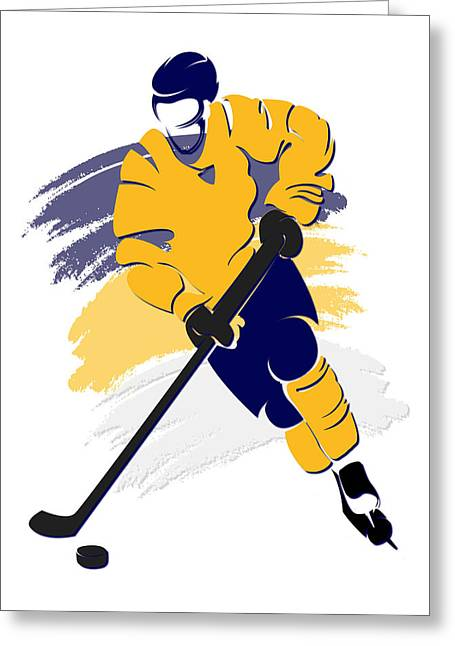 Nashville Greeting Cards - Predators Shadow Player2 Greeting Card by Joe Hamilton