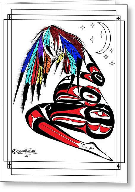 Prego Feathers Greeting Card by Speakthunder Berry