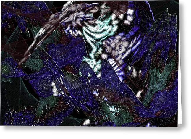 Prehistoric Digital Art Greeting Cards - Prehistoric Greeting Card by Camille Lopez