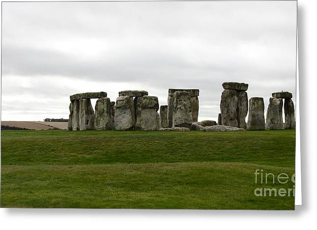 Prehistoric Monument - Stone Henge Greeting Card by Christiane Schulze Art And Photography